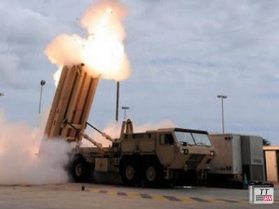 Hệ thống phòng thủ tên lửa THAAD của Mỹ - Ảnh: AFP