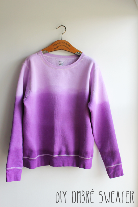 The Forge: diy: ombre dip dye sweatshirt