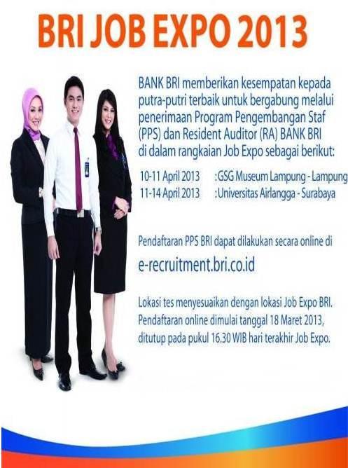 Lowongan Kerja Bank BRI April 2013