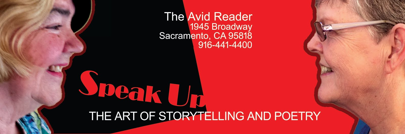 SPEAK UP STORYTELLING/POETRY in Sac. Fri. (1/26)