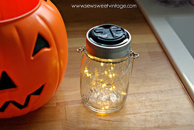 how to make a diy solar firefly jack-o-lantern for Halloween