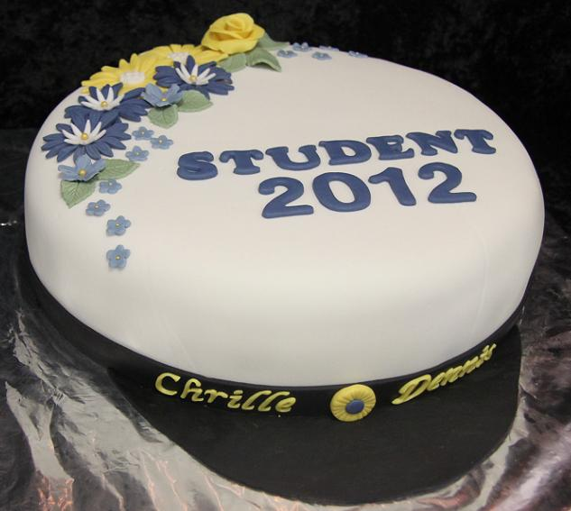 student dekoration tårta