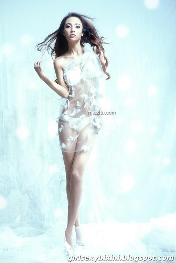 Beauty Zhang Nina the white aesthetic blockbuster