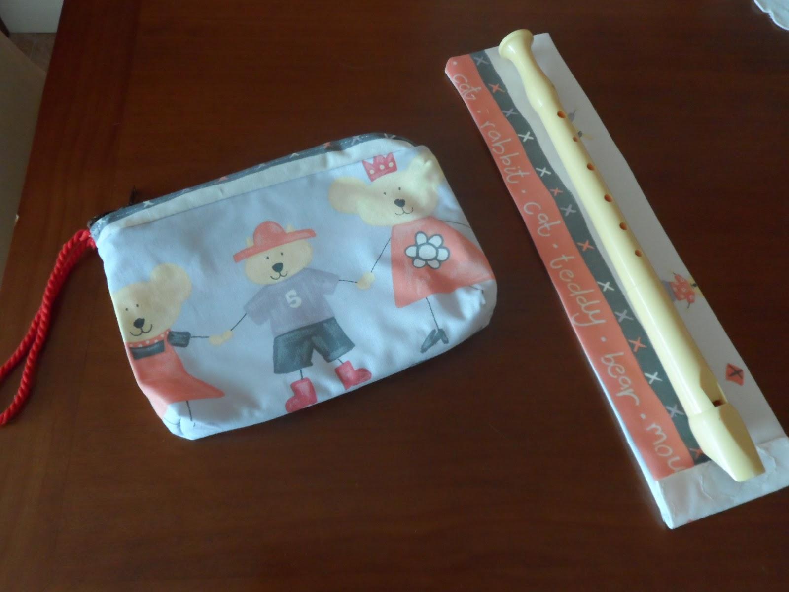 estuche y funda de flauta para niños