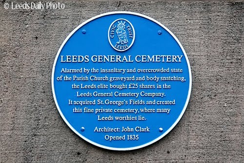 Leeds General Cemetery plaque
