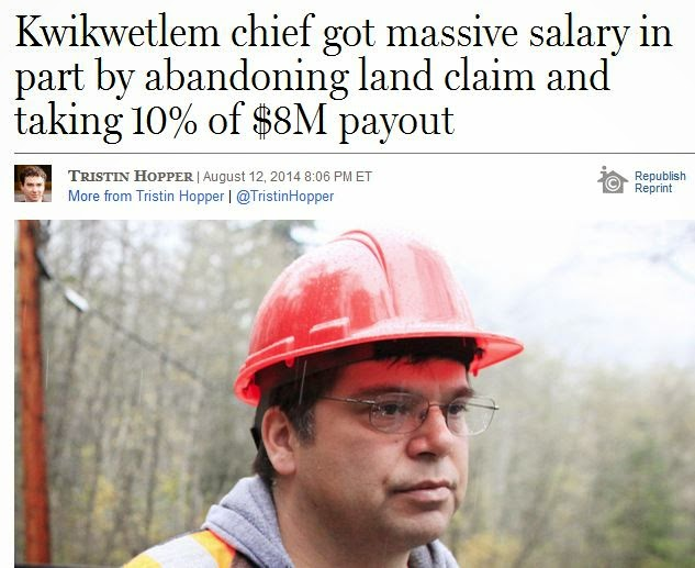 http://news.nationalpost.com/2014/08/12/kwikwetlem-chief-got-massive-sallary-in-part-by-abandoning-landclaim-and-taking-10-of-8m-payout/
