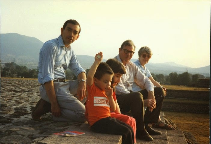 Michael Powell in Teotihuacan, Mexico, 1992