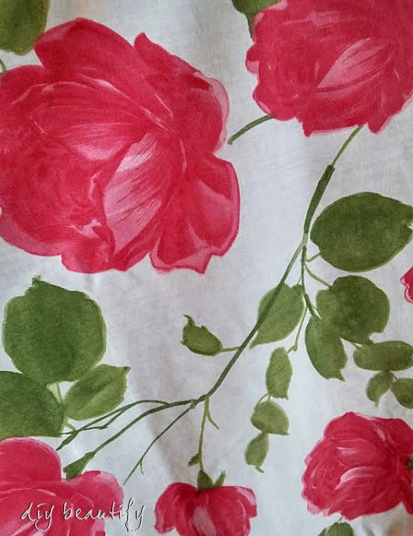 vintage roses tablecloth DIY beautify