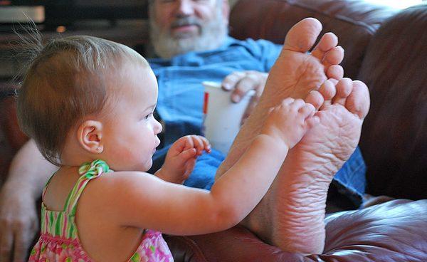 Los pies del abuelo