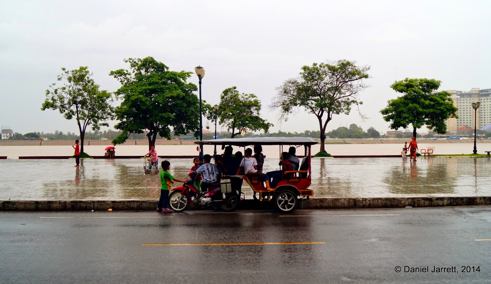 Shelter from the storm, Phnom Penh, Cambodia