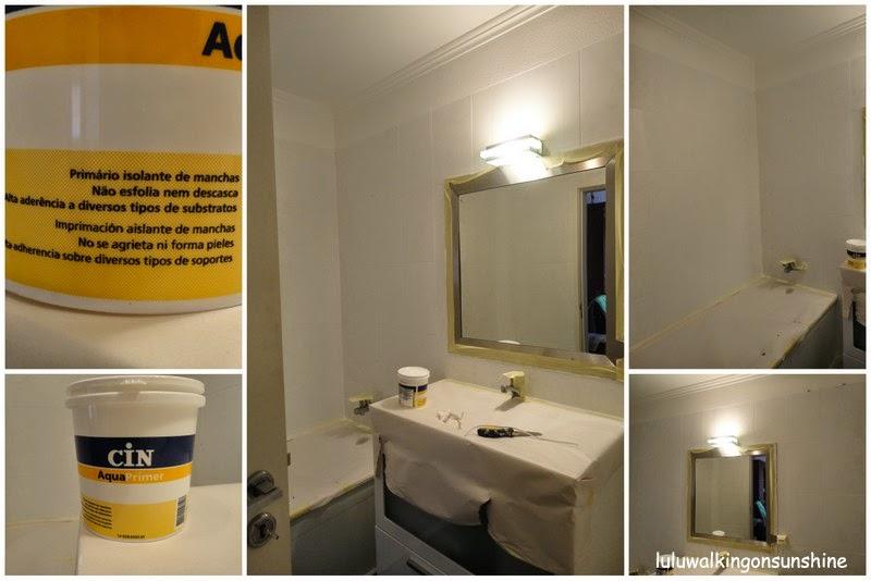 Walking on sunshine renovar a casa de banho pintando os for Casa del azulejo