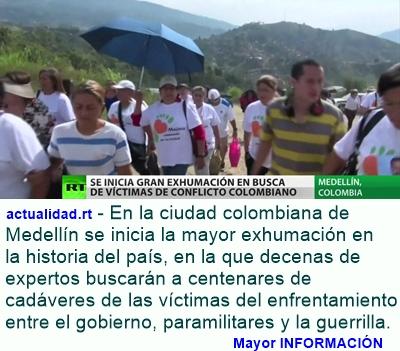COLOMBIA: Se inicia en Medellín una gran exhumación en busca de víctimas del conflicto armado