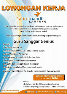 Bursa Kerja Yatim Mandiri Lampung