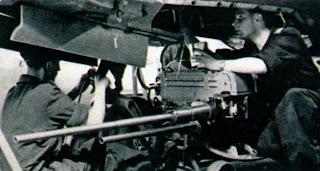 Одна 37-мм и две 23-мм пушки истребителя МиГ-15