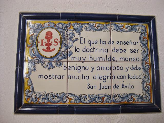 Escritos y cerámica de San Juan de Avila