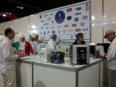 Chefes de cozinha no evento