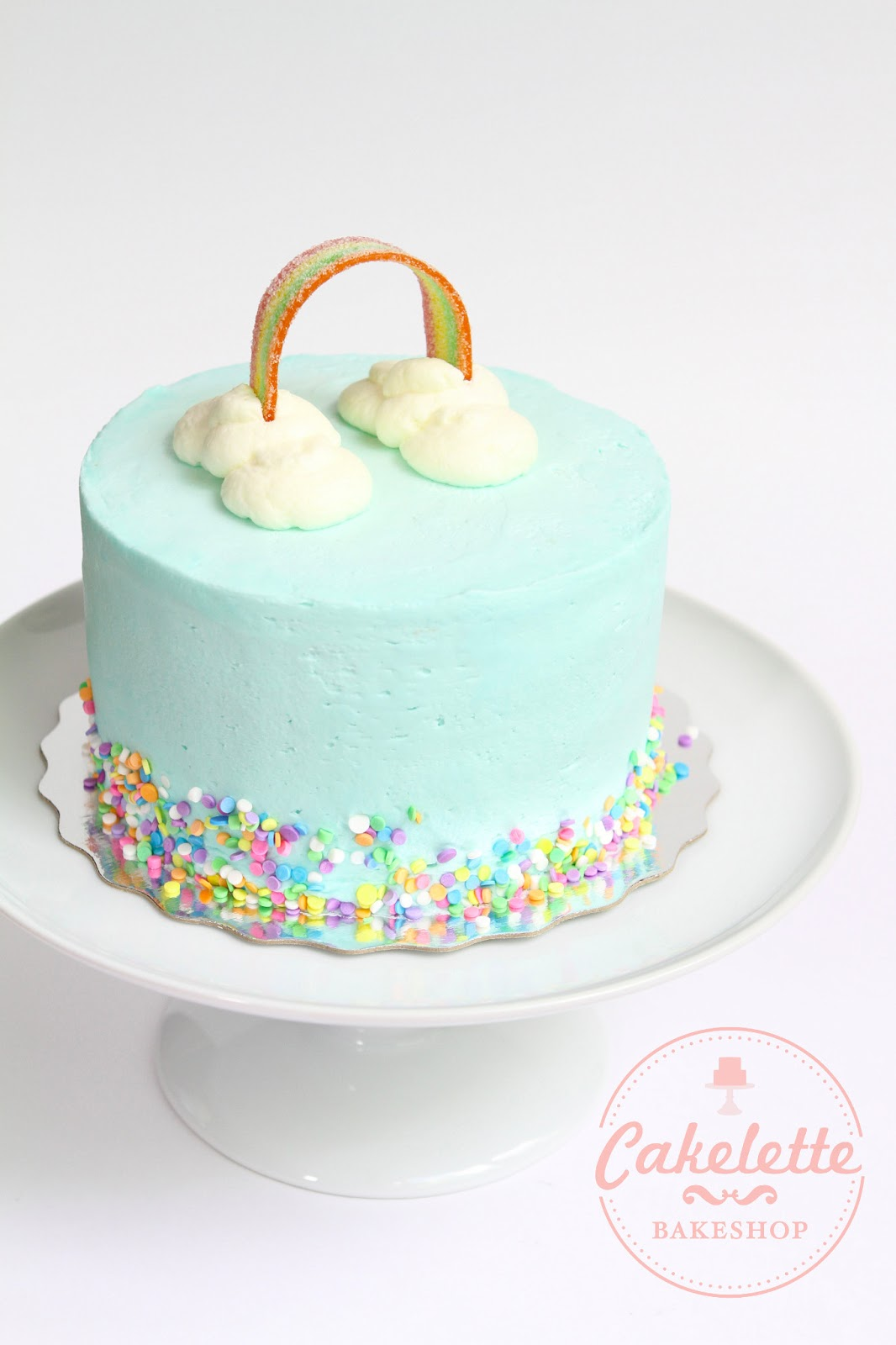 Cakelette Bakeshop A Rainbow And Cloud Cake