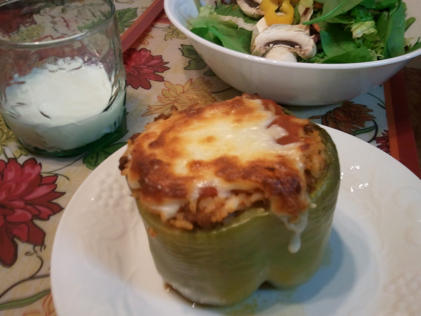 Another Broke Mom: Stuffed Green Peppers