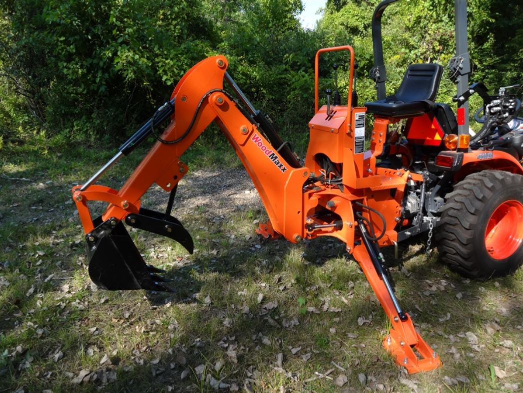 Tractor Implements And Attachments : Backhoe attachments the woodmaxx wm foot