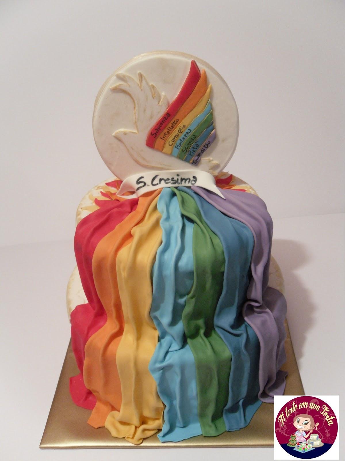 Ti tento con una torta i sette doni dello spirito santo - Decorazioni per cresima ...