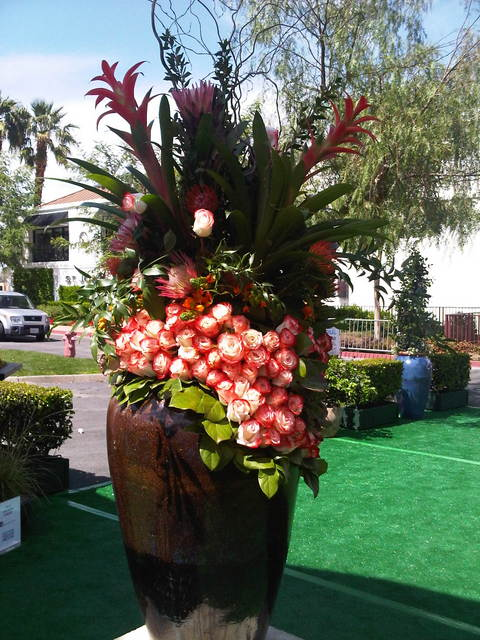 Desert and garden show floral arrangement