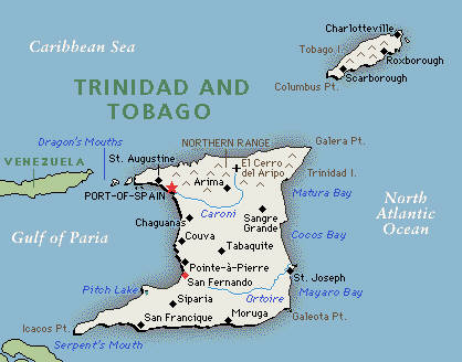Trinidad And Tobago Printable Map