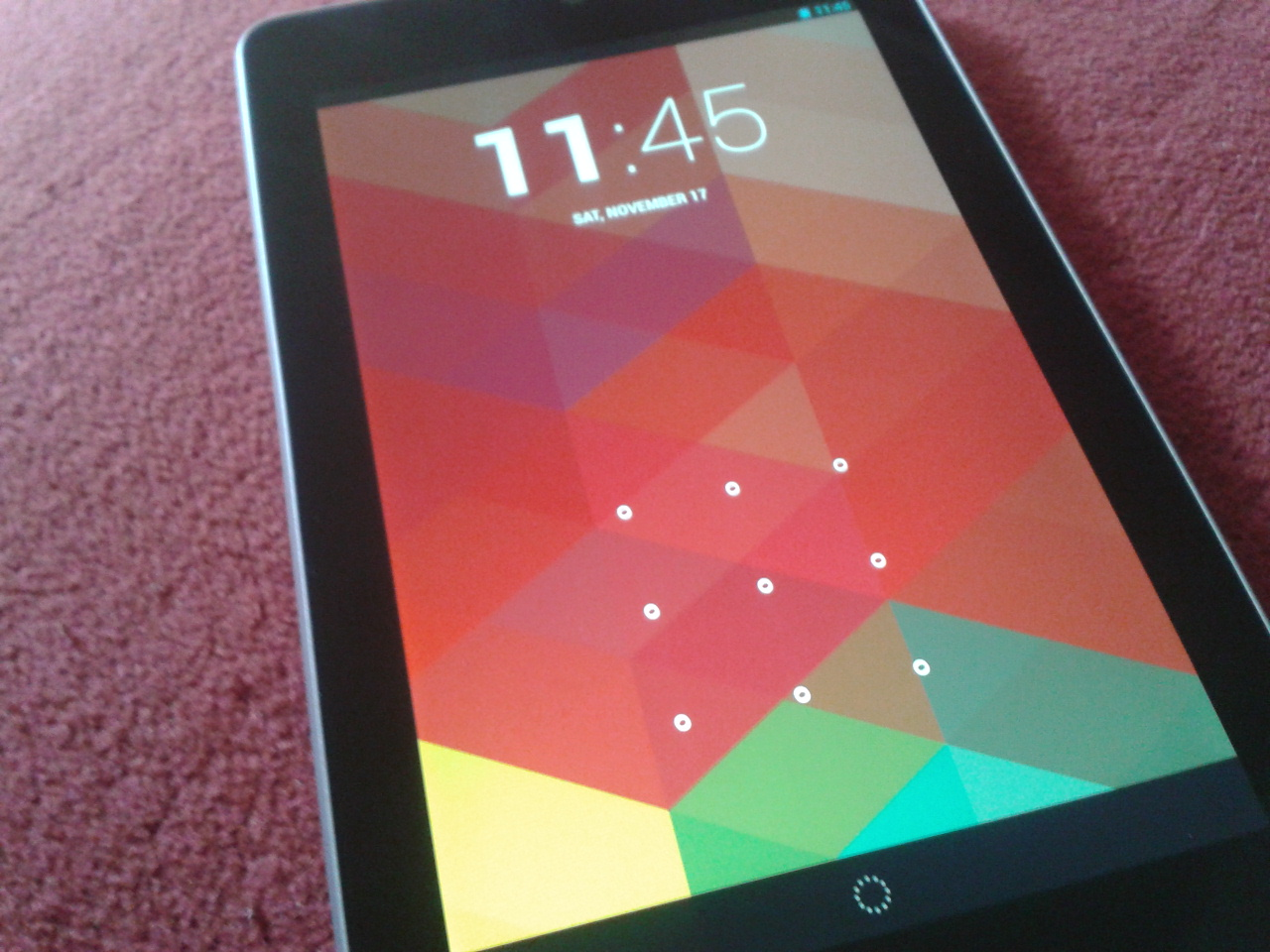Android 4.2 lock screen