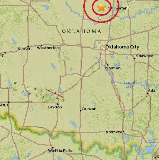 Magnitude 3.4 Earthquake of Crescent, Oklahoma 2015-04-04