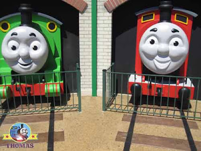 James the red engine Percy and Thomas the train characters America Six flags theme parks Thomas town