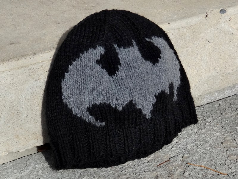 Grandma swills handcrafted knits handmade knitted adult batman hat dt1010fo