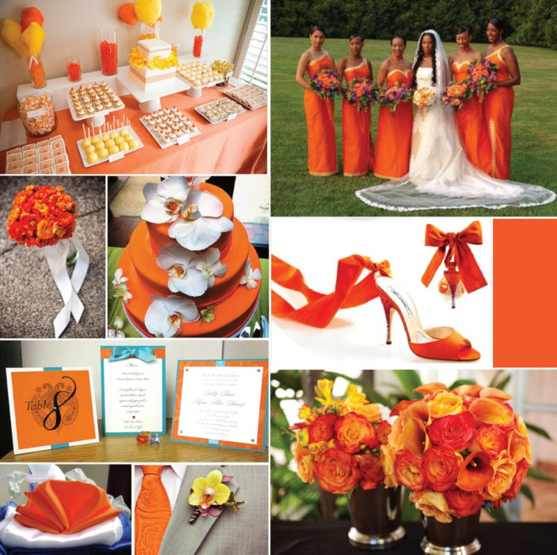 Power to Personalize Your Wedding: The Color of the Year ... Tangerine Tango Wedding