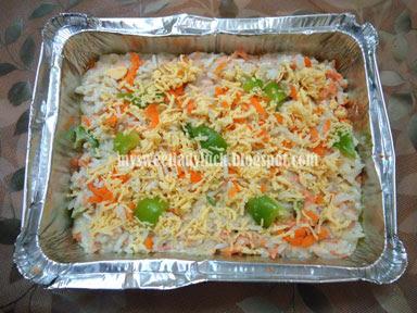 nasi panggang keju saus bechamel