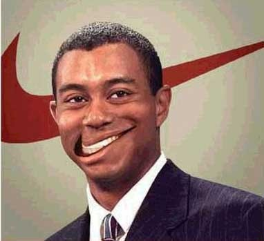 nike tiger woods logo. Nike at Tiger Woods face