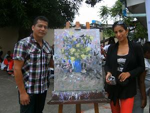 Sonja Perez y el maestro Marcos Unigarro