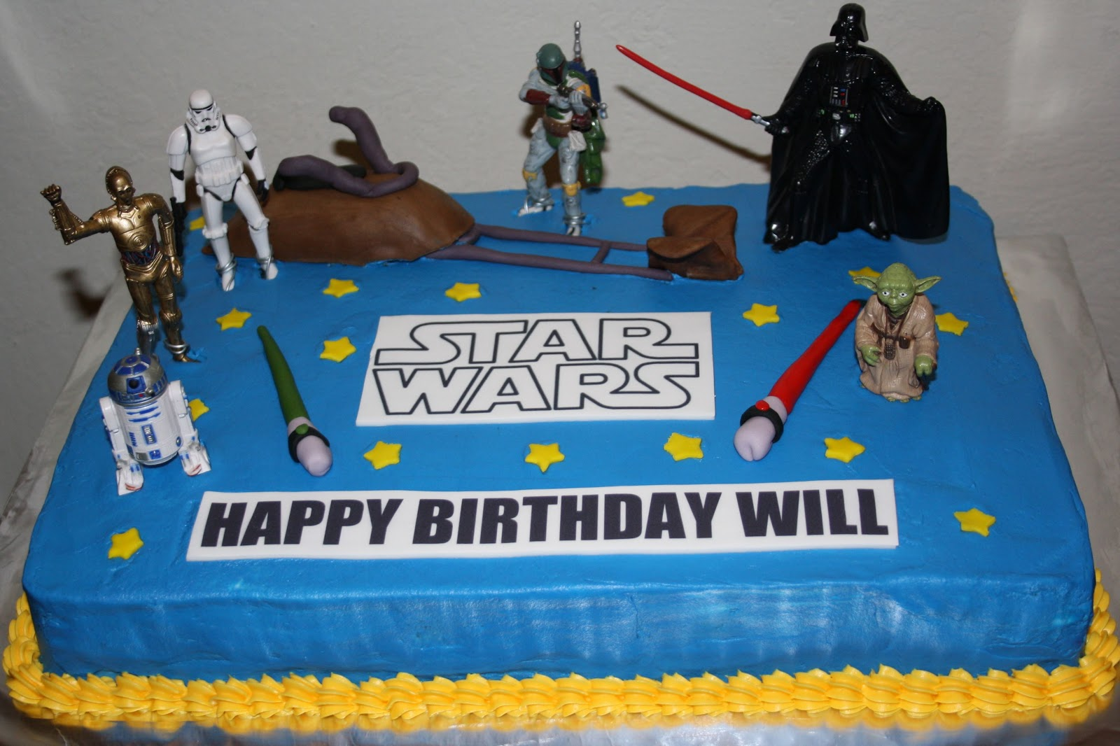 Jacquelines Sweet Shop Star Wars Sheetcake