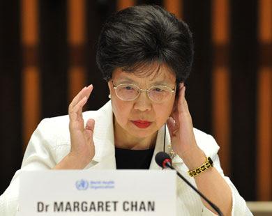 الدكتورة مارغريت تشان، المديرة العالمية لمنظمة الصحة العالمية