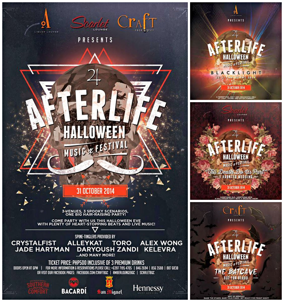 WHEN: HALLOWEEN AFTERLIFE MUSIC FEST / THREE BARS ONE PARTY ...