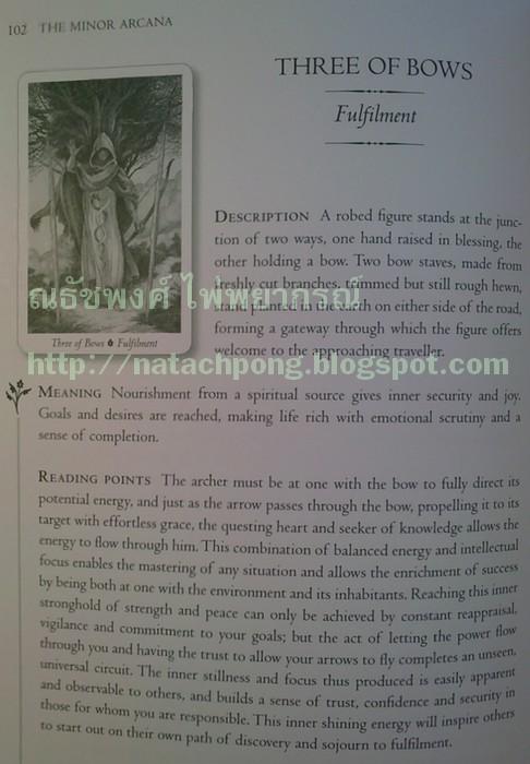 ไพ่ทาโรต์ หนังสือ ไพ่ ยิปซี Minor