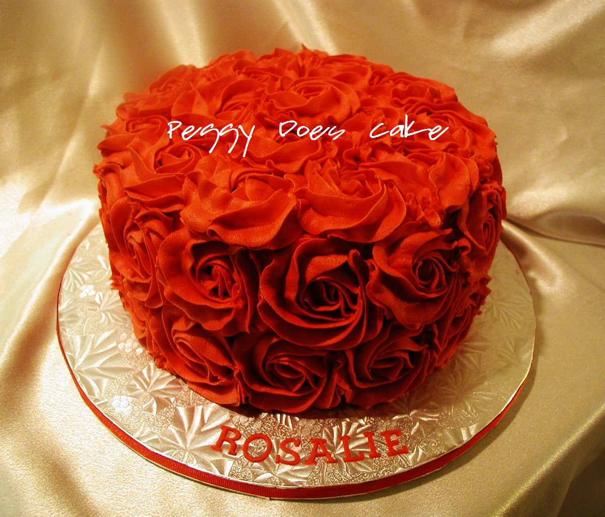Red Roses Cake For Rosalie