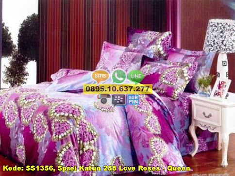 Sprei Katun 288 Love Roses - Queen