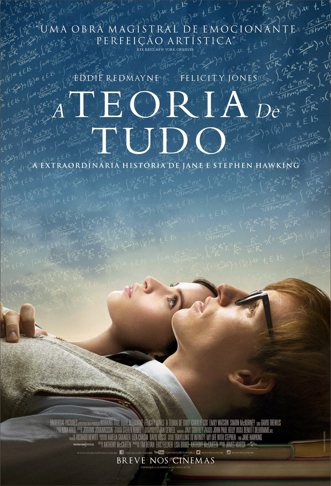 Pôster/capa/cartaz nacional de A TEORIA DE TUDO (The Theory of Everything)