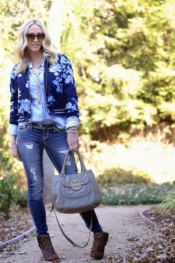 bomber jacket and leopard