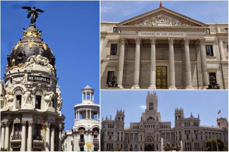 Recorrido por Madrid el dia de la Proclamacion del Rey Felipe VI: Congreso de los Diputados, Puerta de los Leones, Gran Via, Palacio Real.