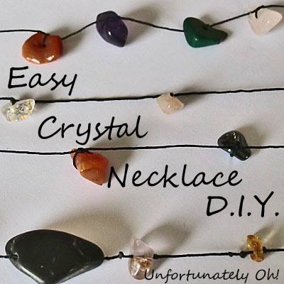 easy crystal necklace tutorial