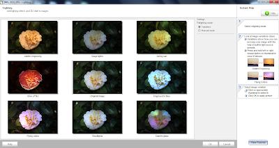 Iluminação, opções automáticas do Photo! Editor