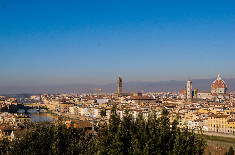 view of florence from michaelangelo square