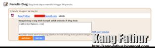 Mengganti Email Pada Blogger