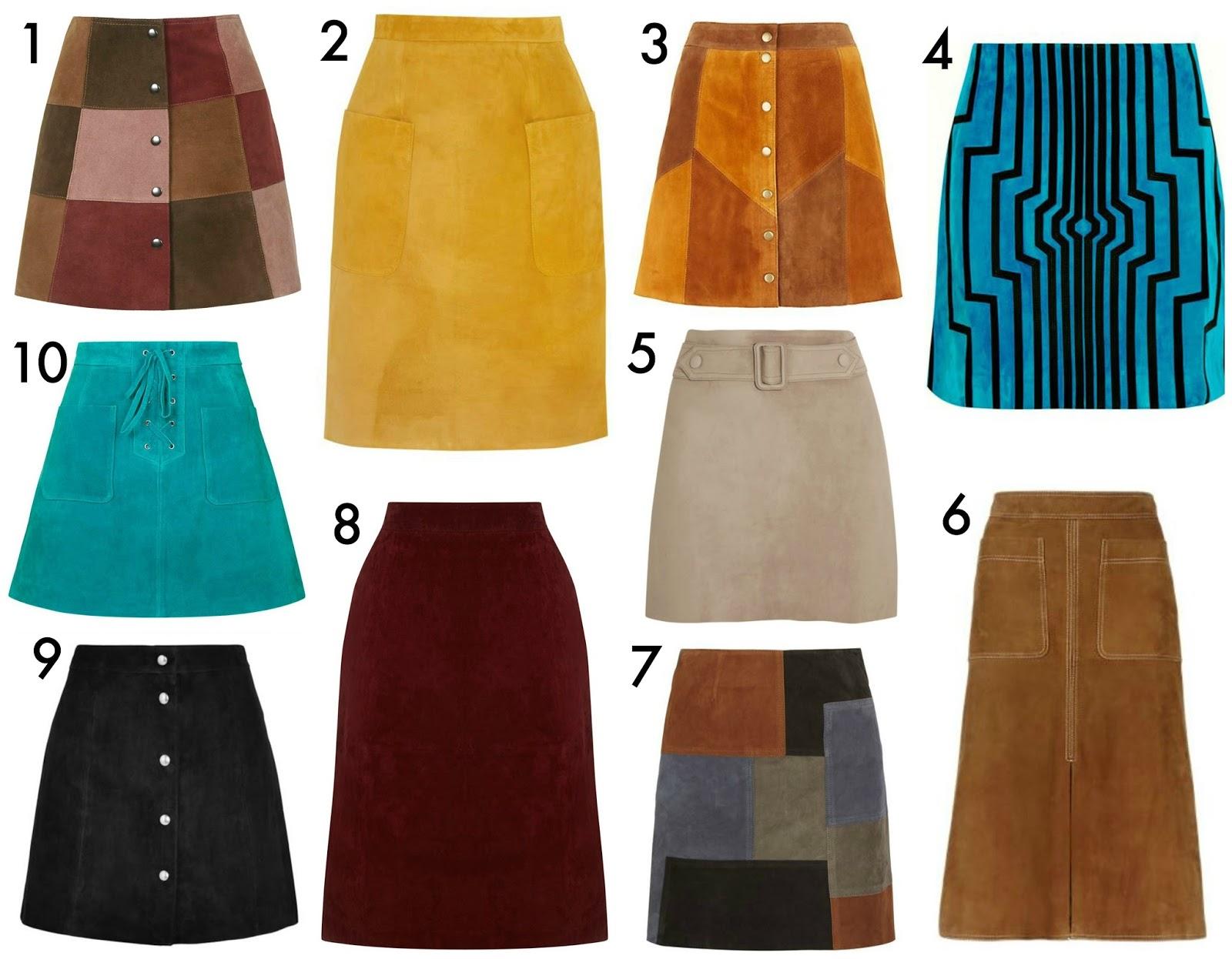 patchwork suede skirt zara