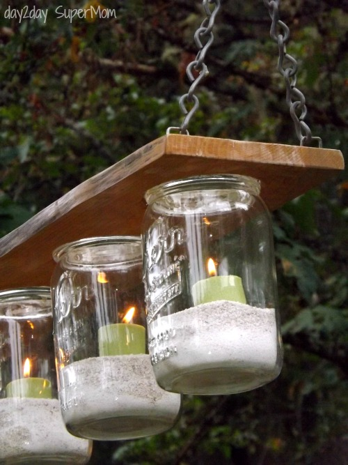 Mason Jar Chandelier ~ DIY Friday