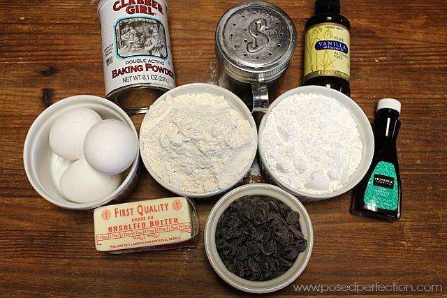 Homemade Mint Milano Cookies Ingredients